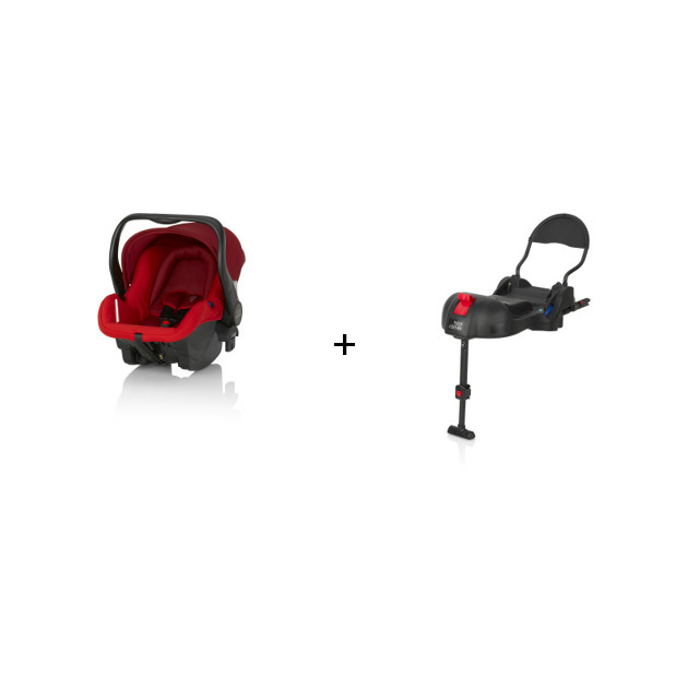 Britax Romer Primo Flame Red + Britax R?mer Primo Base